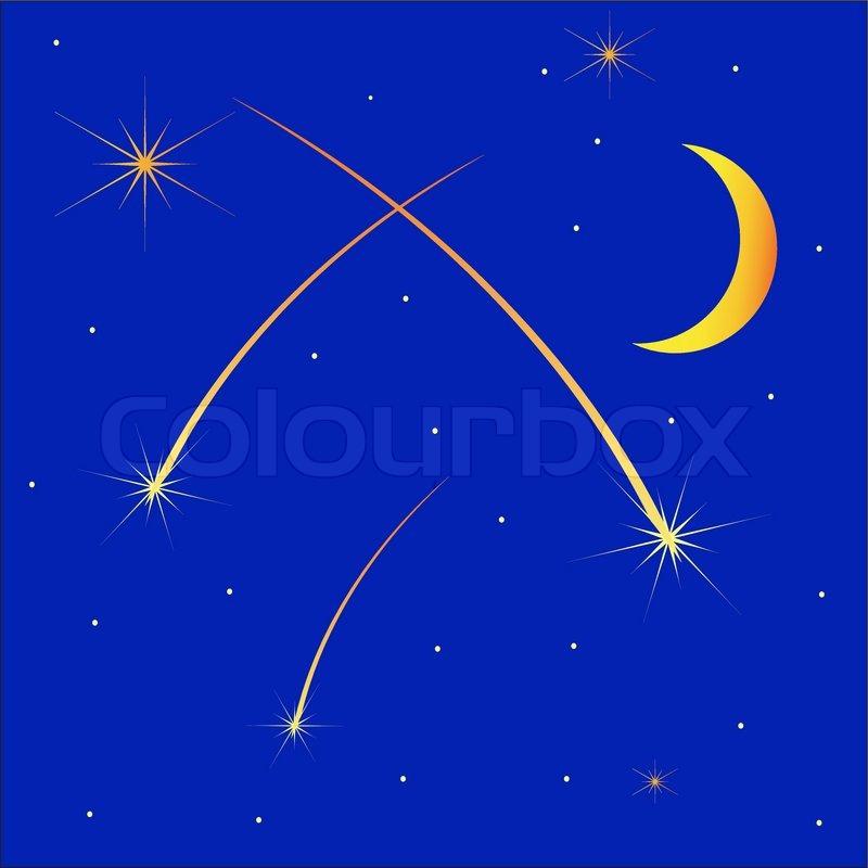 Dusche Beleuchtung Sternenhimmel : Half Moon Vector