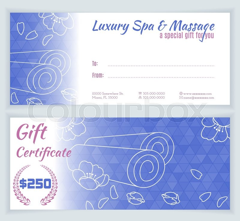 Spa massage gift certificate template with hand drawn yoga mats stock vector of spa massage gift certificate template with hand drawn yoga mats and yelopaper Image collections