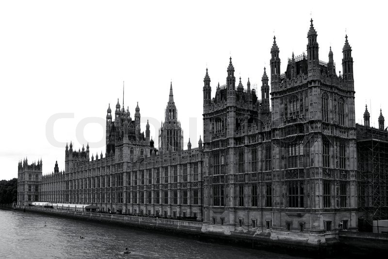 auf houses of parliament in schwarz und wei london stockfoto colourbox. Black Bedroom Furniture Sets. Home Design Ideas