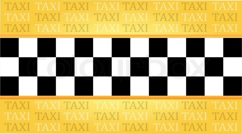 Taxi Visitenkarte Mit Einem Platz Für Stock Vektor