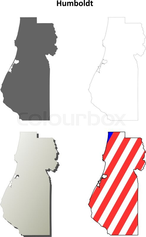 Humboldt county california blank outline map set stock vector humboldt county california blank outline map set stock vector colourbox publicscrutiny Choice Image