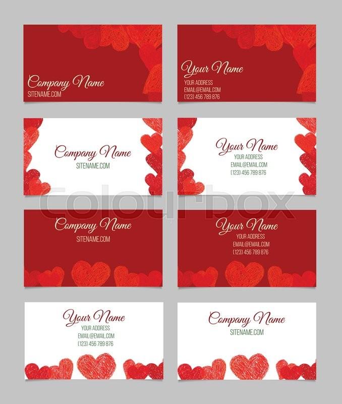 Set of abstract creative business cards design valentines day card set of abstract creative business cards design valentines day card stock vector colourbox colourmoves