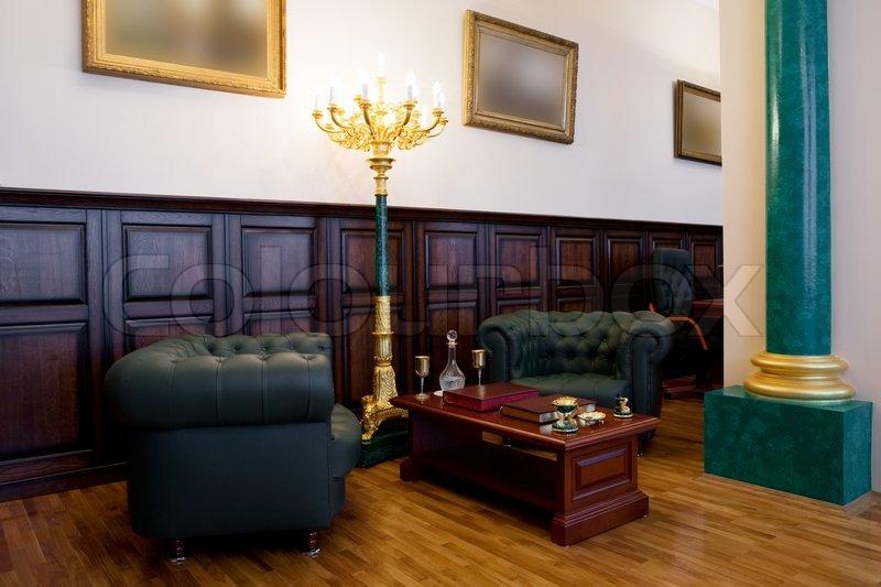 Moderne luxus büro  Moderne und Luxus Büro mit antiquarischen Themen | Stockfoto ...