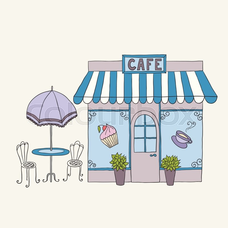 Cartoon Vector Illustration Of Street Cafe Vector 17146213 on Outdoor Chair Building Plans