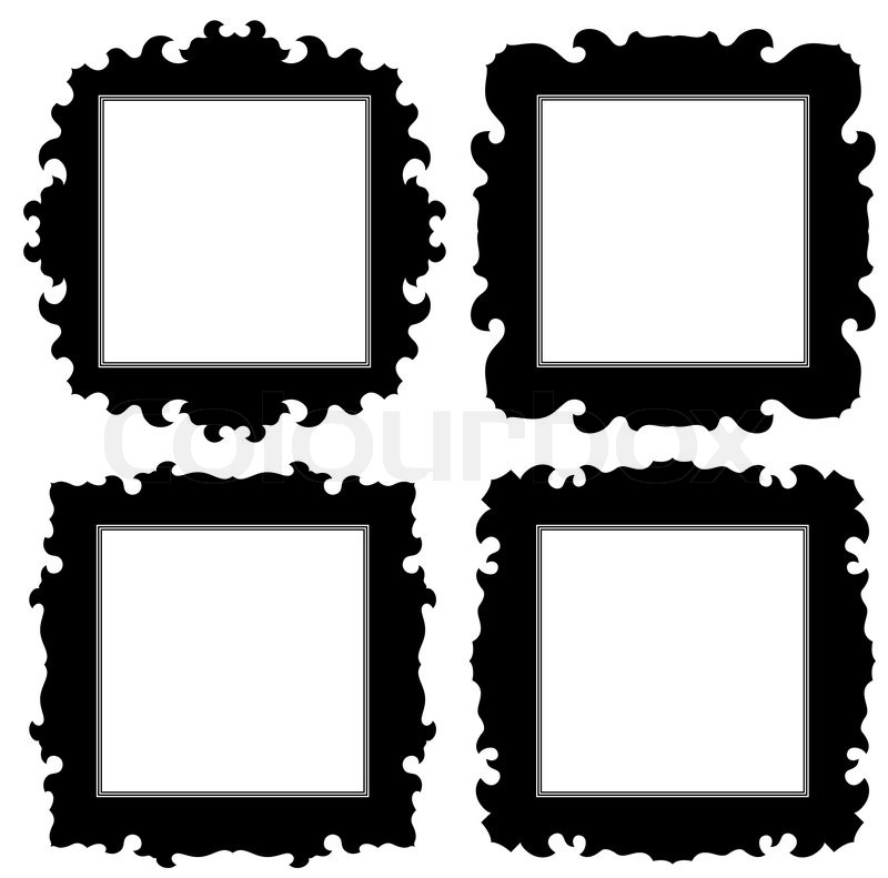 Empty ornate frame set | Stock Vector | Colourbox