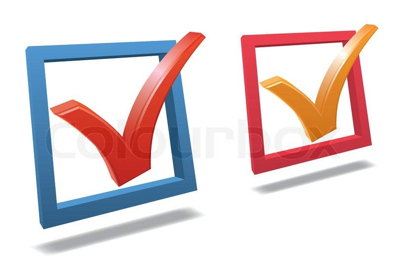 Check Box With Check Mark High Detailed 3d Vector Stock Vector
