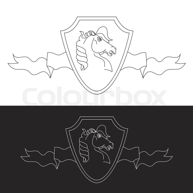 Horse Symbol And Logo Great Power Sign Stock Vector Colourbox