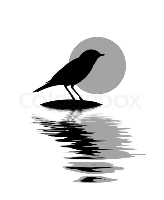 Vector silhouette of t...
