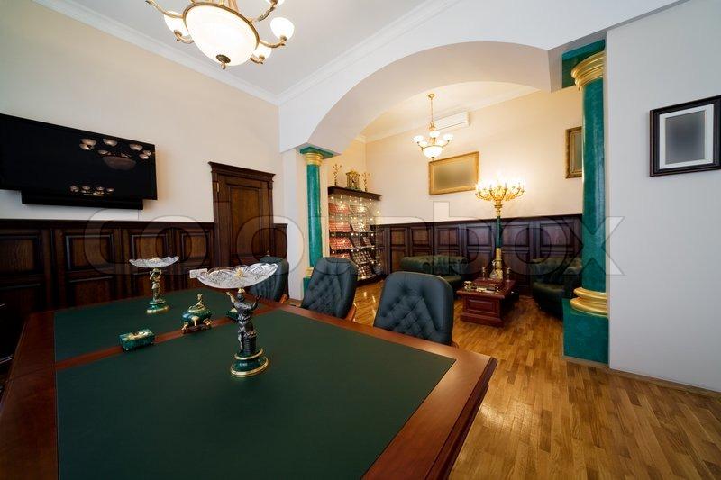 Moderne und Luxus Büro mit antiquarischen Themen ...
