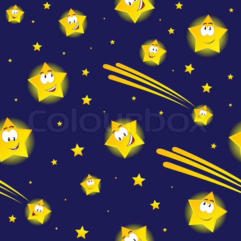 cartoon stars in night sky stock vector colourbox shooting star clipart gold shooting star clipart gold