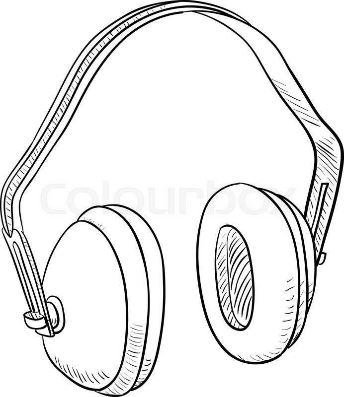 hearing protection ear muffs  template design illustration