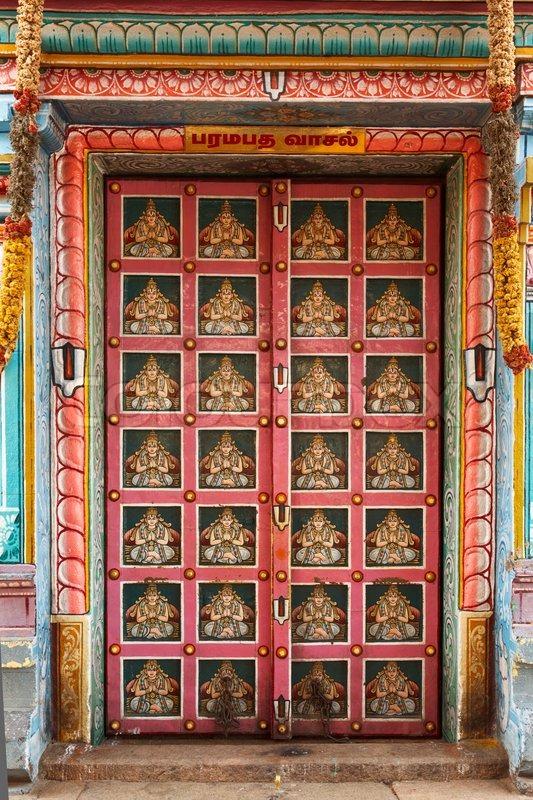 Hindu Temple Gates Sri Ranganathaswamy Temple Stock