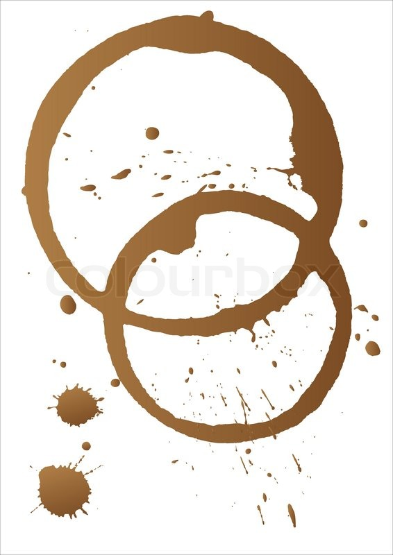 Vector Coffee Stains Stock Vector Colourbox