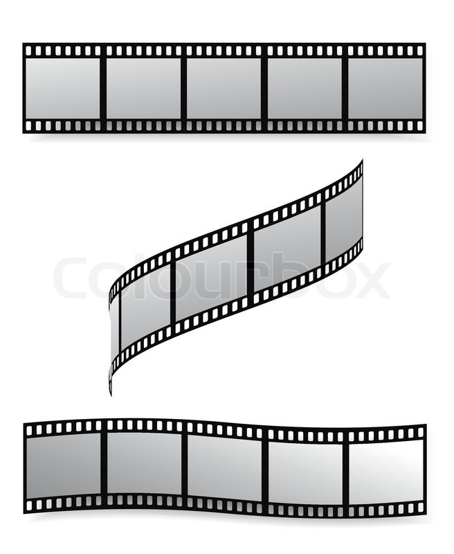 vector film strip with empty frames stock vector colourbox rh colourbox com film strip vector png vector film strip free download