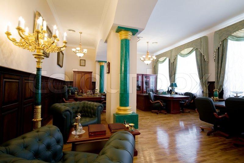 Moderne luxus büro  Moderne und Luxus Büro mit antiquarischen Themen | Stockfoto | Colourbox