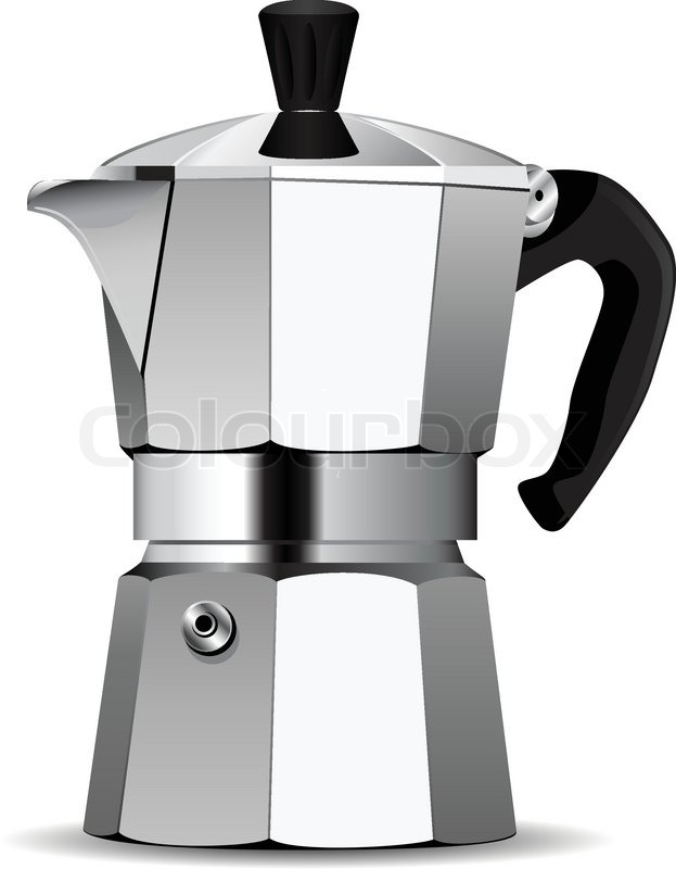 Italian Coffee Maker Vector : Vector coffee maker Stock Vector Colourbox