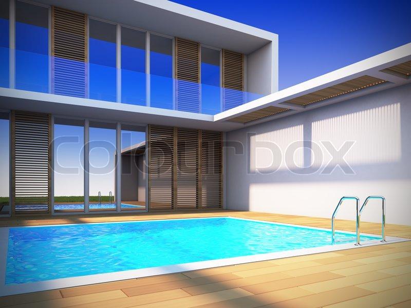 3d visualisierte minimalistische Maisonette Wohnung innenarchitektur farben