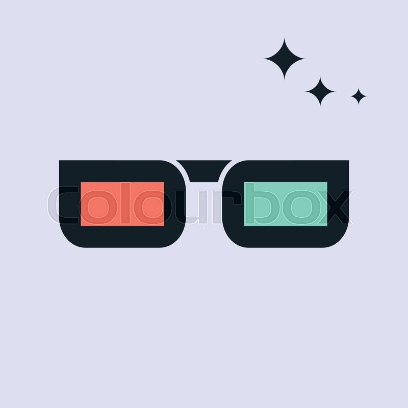 3d glasses.vector illustration. | Stock Vector | Colourbox