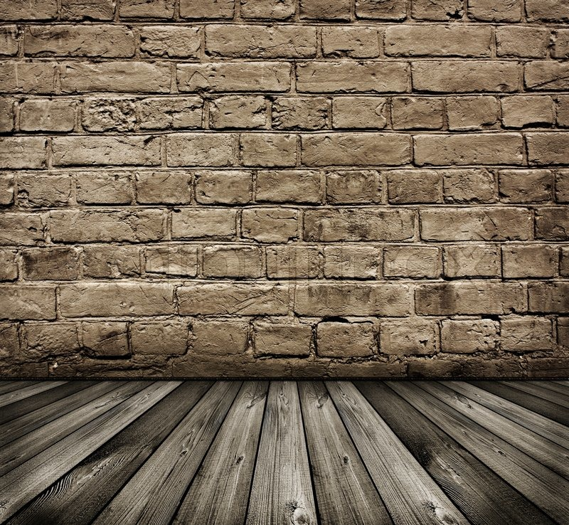 Vintage Black And White Textured Brick Wall Stock Photo