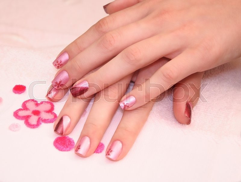 Woman's hands with nice manicured nails | Stock Photo | Colourbox
