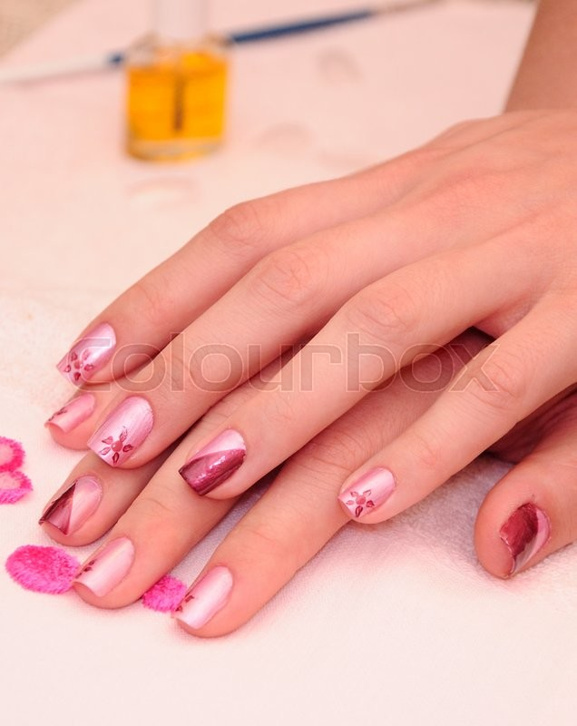 Woman\'s hands with nice manicured nails | Stock Photo | Colourbox