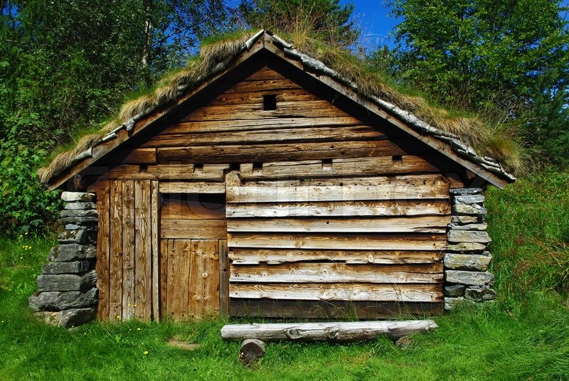 Ancient Fisherman S Wooden Hut In Ethnic Park Of Alesund