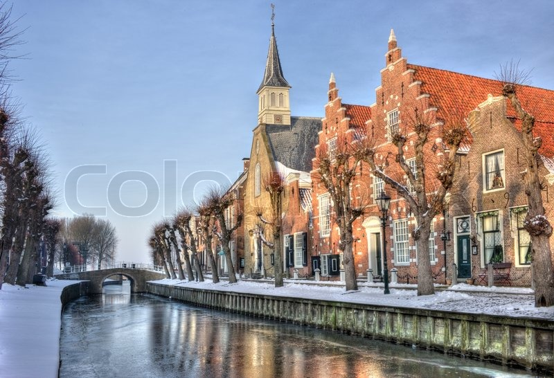 The village Sloten in Friesland The Netherlands