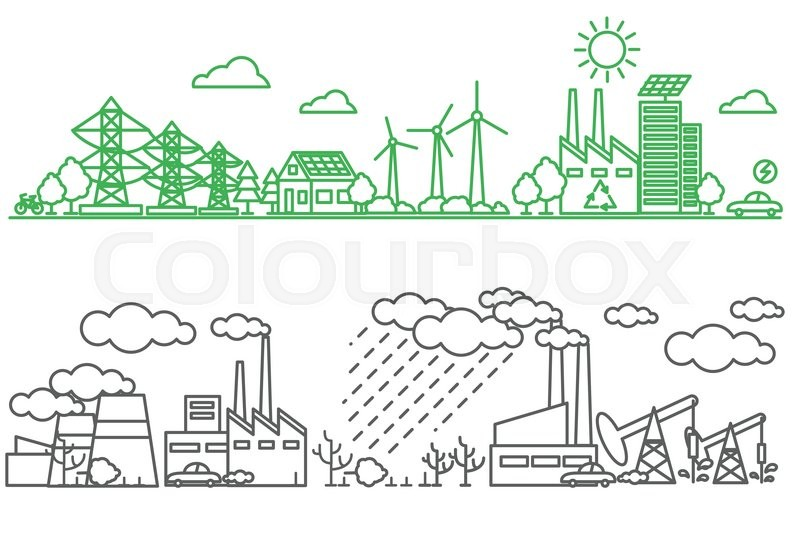 environmental risks and pollution ecosystem can be used for background layout banner diagram web design brochure template