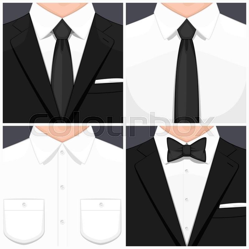 Man In Suit Flat Design Man In White Shirt Man In White