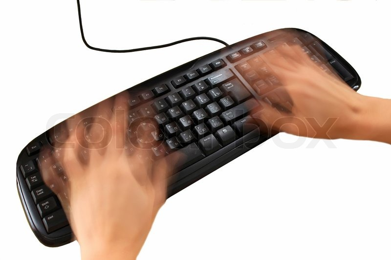 fast hands programmer typing on the keyboard stock photo colourbox