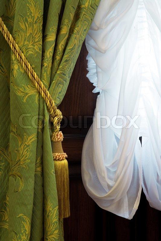 Sch ne vorh nge mit einem ornament in einem luxus - Schone vorhange ...
