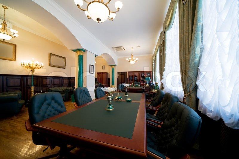 Moderne luxus büro  Moderne und Luxus Büro mit antiquarischen Themen   Stockfoto ...