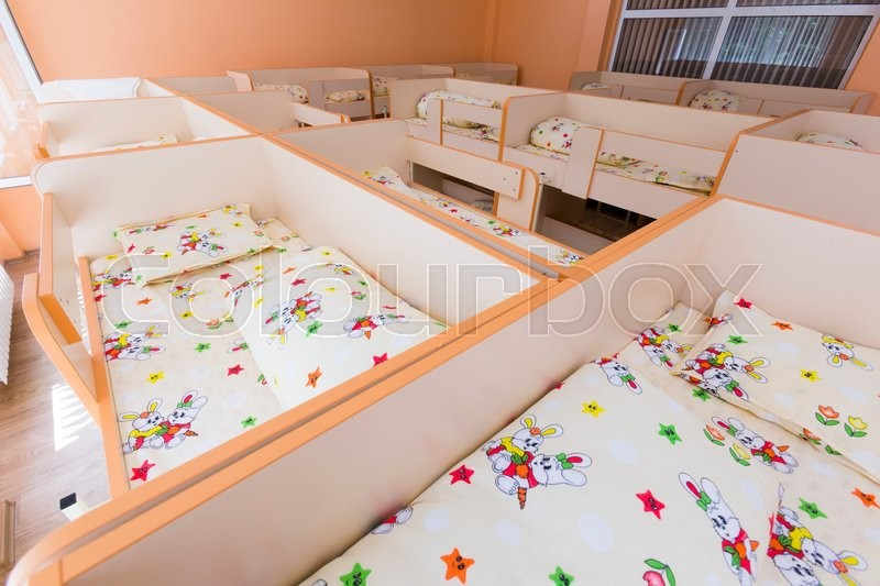 new bedroom with small bunk beds with stairs for the kids stock photo colourbox