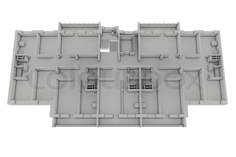 grundriss haus isoliert auf wei stockfoto colourbox. Black Bedroom Furniture Sets. Home Design Ideas