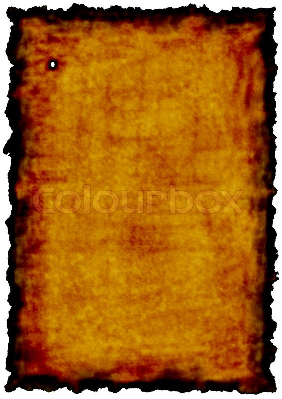 Old Paper With Burn Edges As A Concept Of Time Or