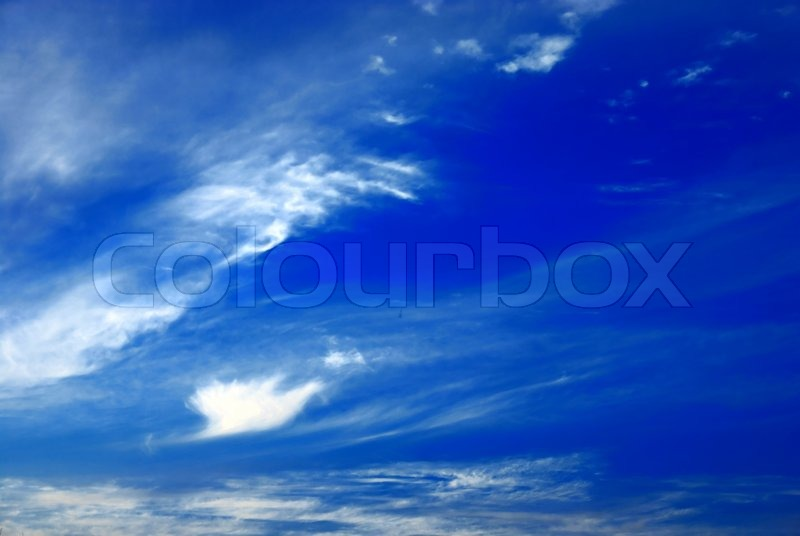 Beautiful cloudscape as a concept of clean nature, stock photo