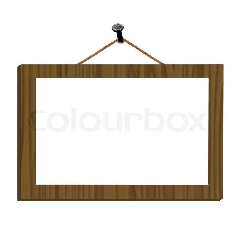 rahmen auf dem nagel f r bild oder text vektor. Black Bedroom Furniture Sets. Home Design Ideas