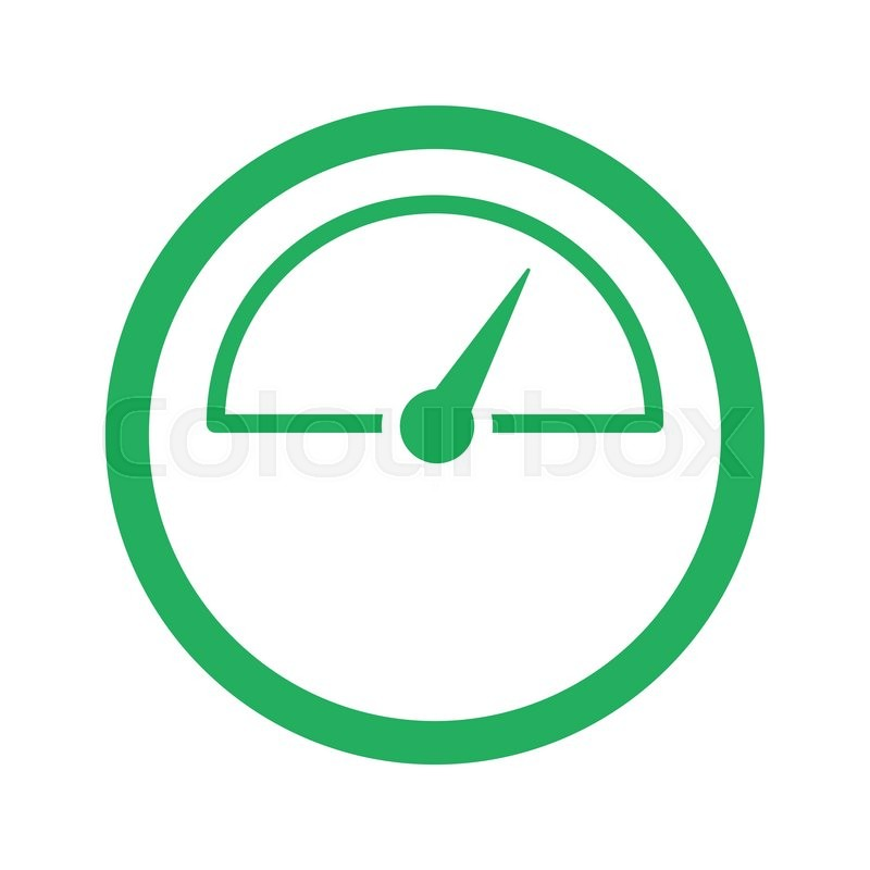 Flat green Speed Meter icon and green circle   Stock Vector   Colourbox
