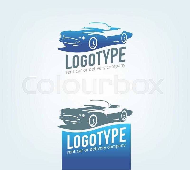 Vintage style car repair service label. Vector logo design template ...