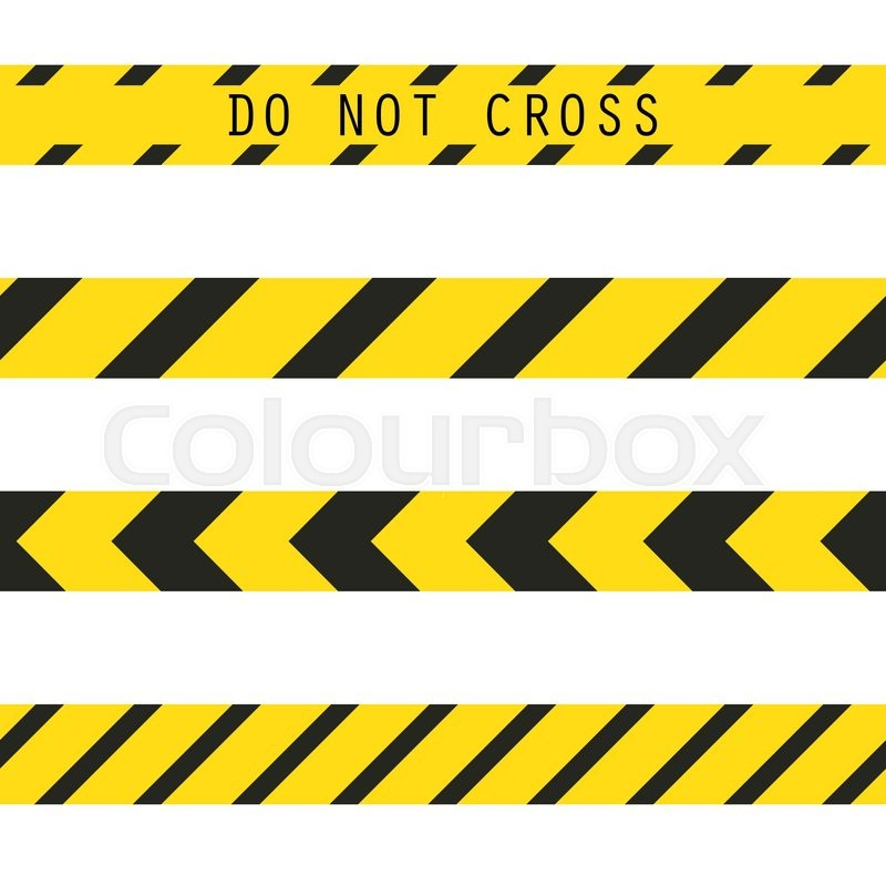 do not cross the line caution vector tape seamless police warning rh colourbox com