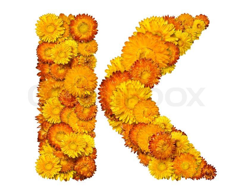 Цветы по буквам