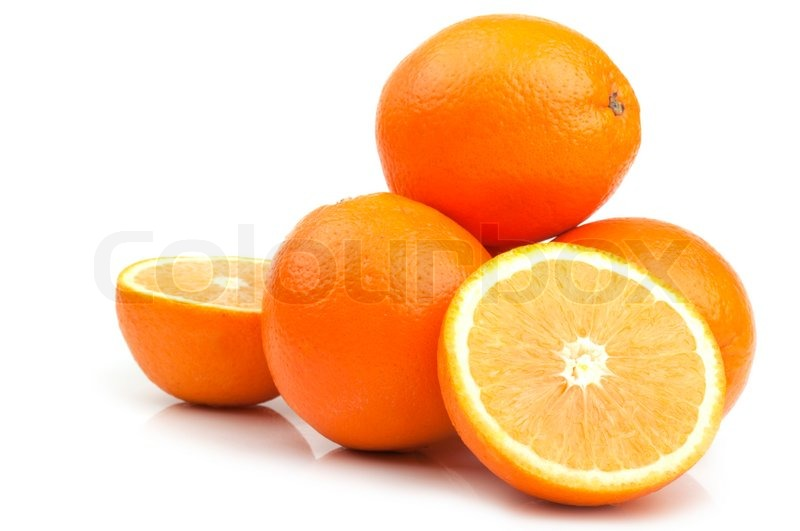 Nice Fresh Orange On A White Background