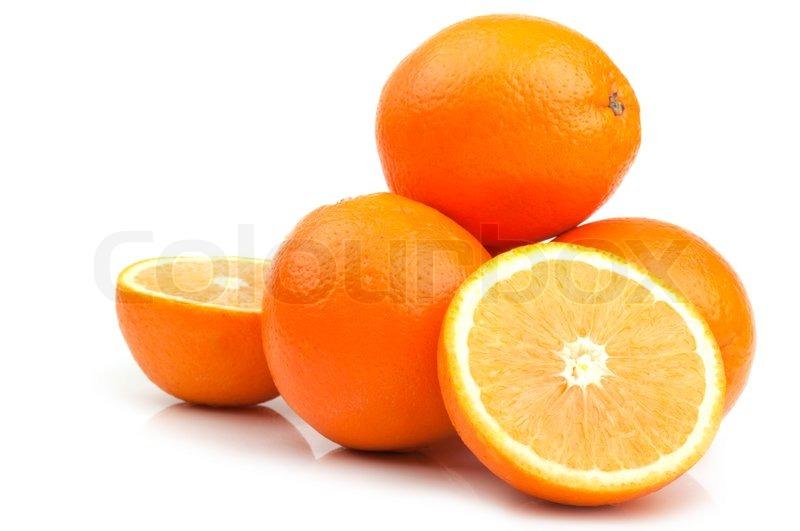Nice Fresh Orange On A White Background