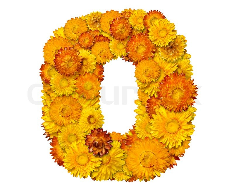 Number From Alphabet From Yellow And Stock Photo Colourbox