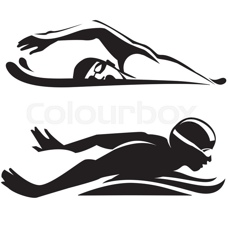 sport swimming vector collection stock vector colourbox rh colourbox com swimming victoria swimming victoria