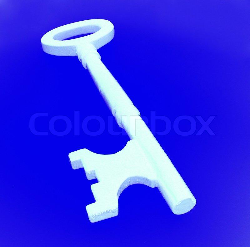 Door key - Close up, stock photo