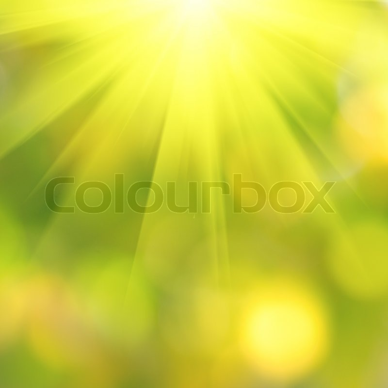 Spring Bokeh With Sunlight Abstract Background For Desing Stock Photo