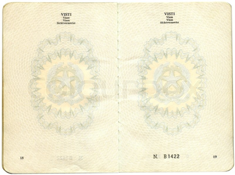Old Italian passport. Pages for visa marks | Stock Photo ...