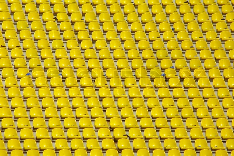 yellow empty stadium seats