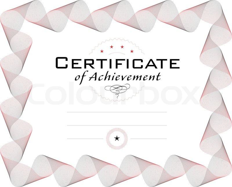 Vorlage des Diplom oder Zertifikat mit Guilloche Grenze , Kurve ...